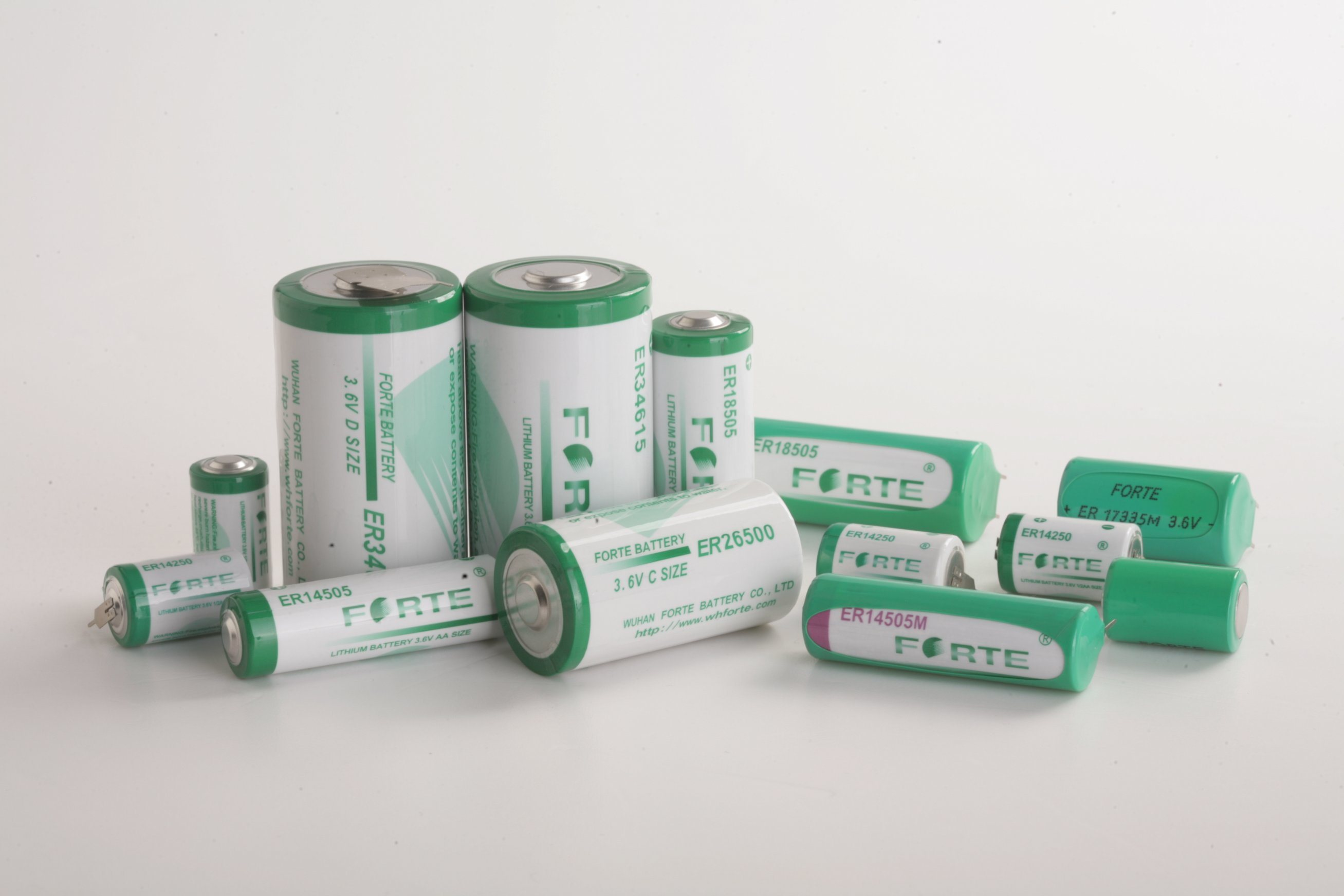 3.6V Er14250m Primary Lithium Battery 1/2AA Size