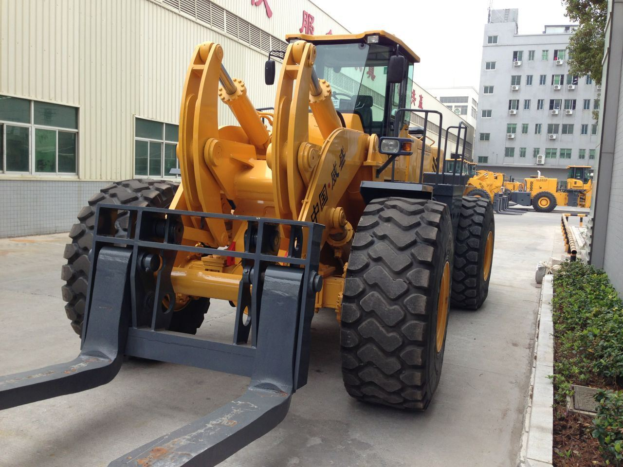 45 Tons Wheel Forklift Loader for Granite with Ce ISO SGS