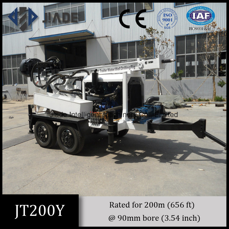 Jt200y Portable Trailer Mounted Small Drilling Rigs