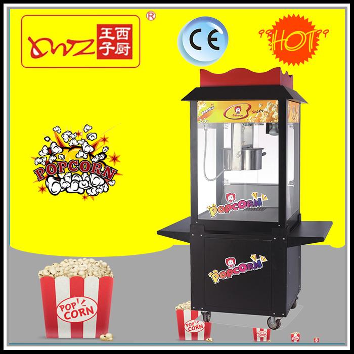 24 Oz Floor Stand Popcorn Machine with Wheel
