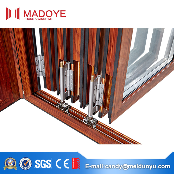 Decorative Material Hollow Glass Folding Door Available in India Market
