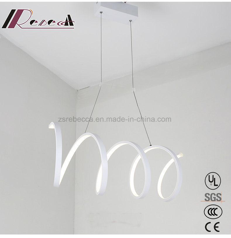 Spiral New White Aluminum Pendant Lamp for Dining Room