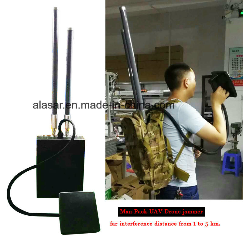 High Power Man-Pack 6 Channels Mobile Signal Jammer 300W