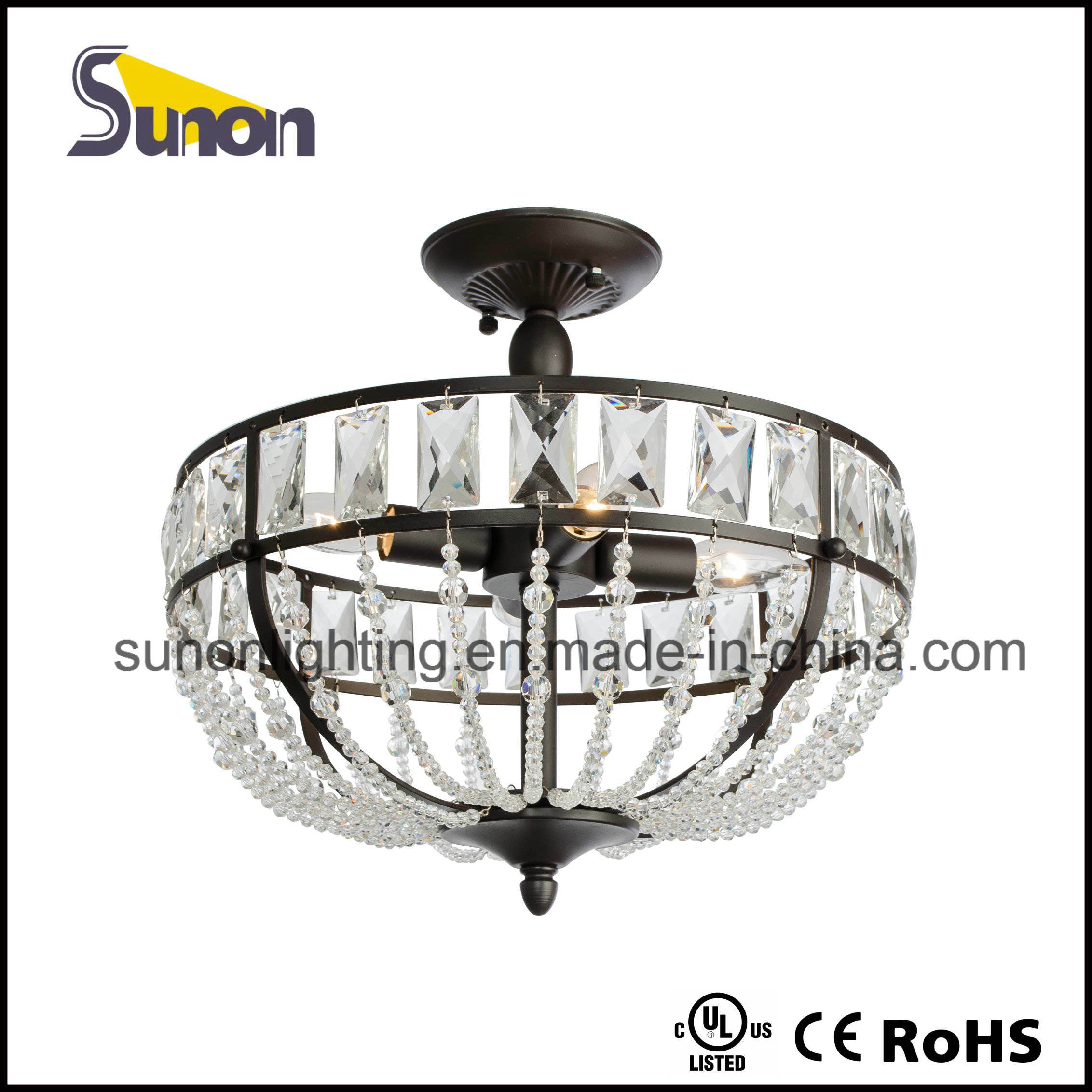 Antique Style Metal Ceiling Lamp