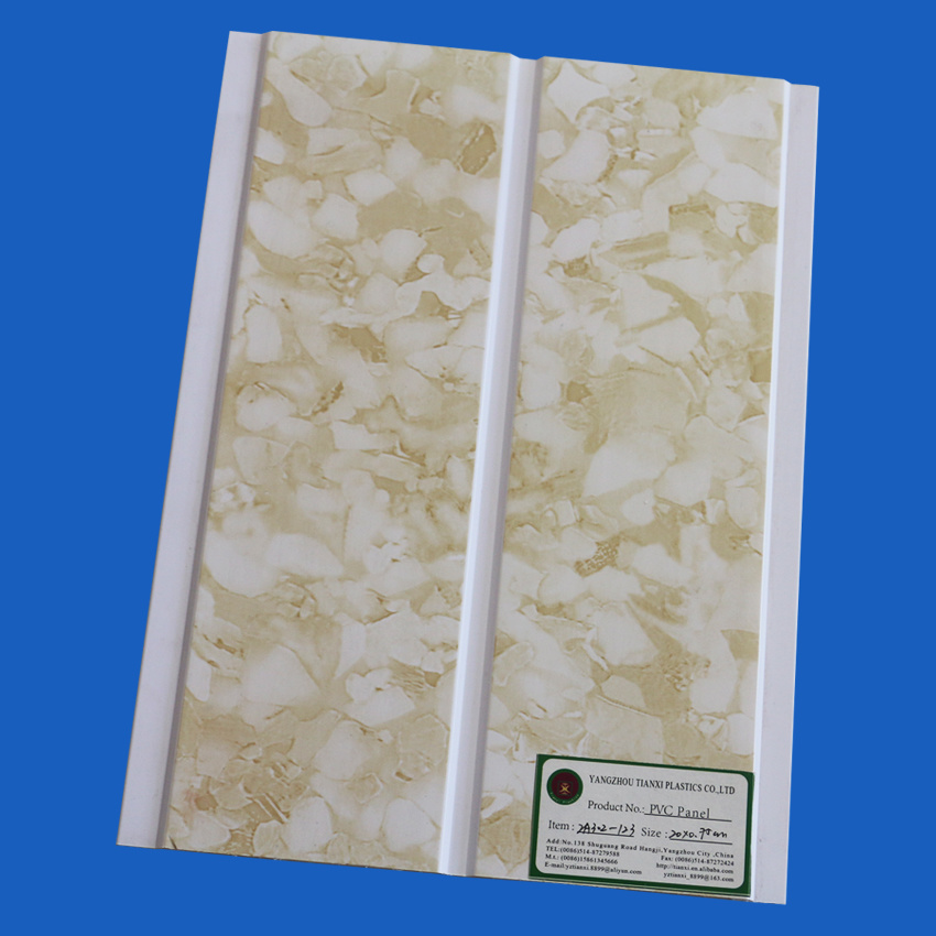 PVC Ceiling Panels with 200cm Width 6mm Thickness One Groove