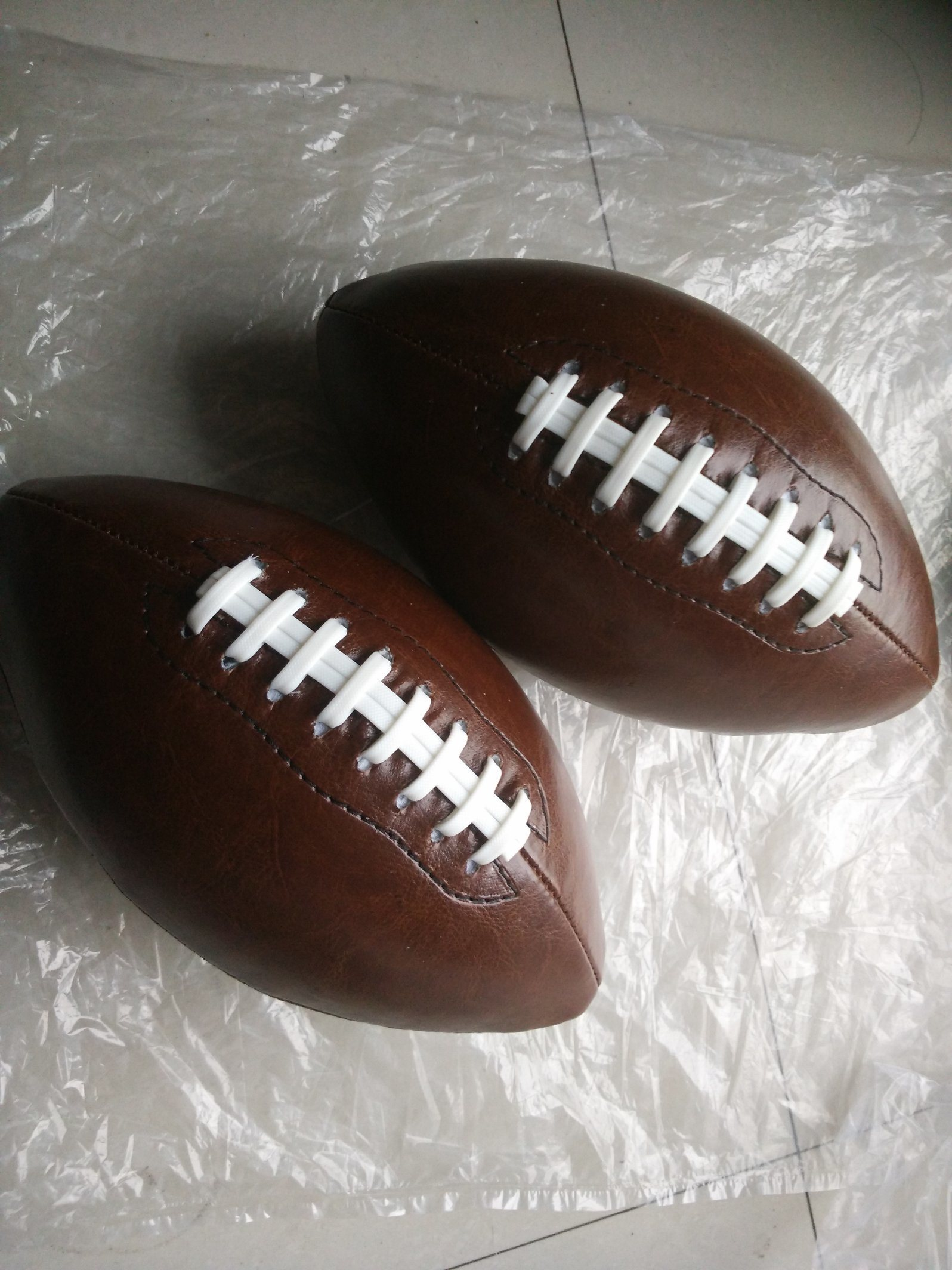 1# PVC Machine Stitching Brown American Football