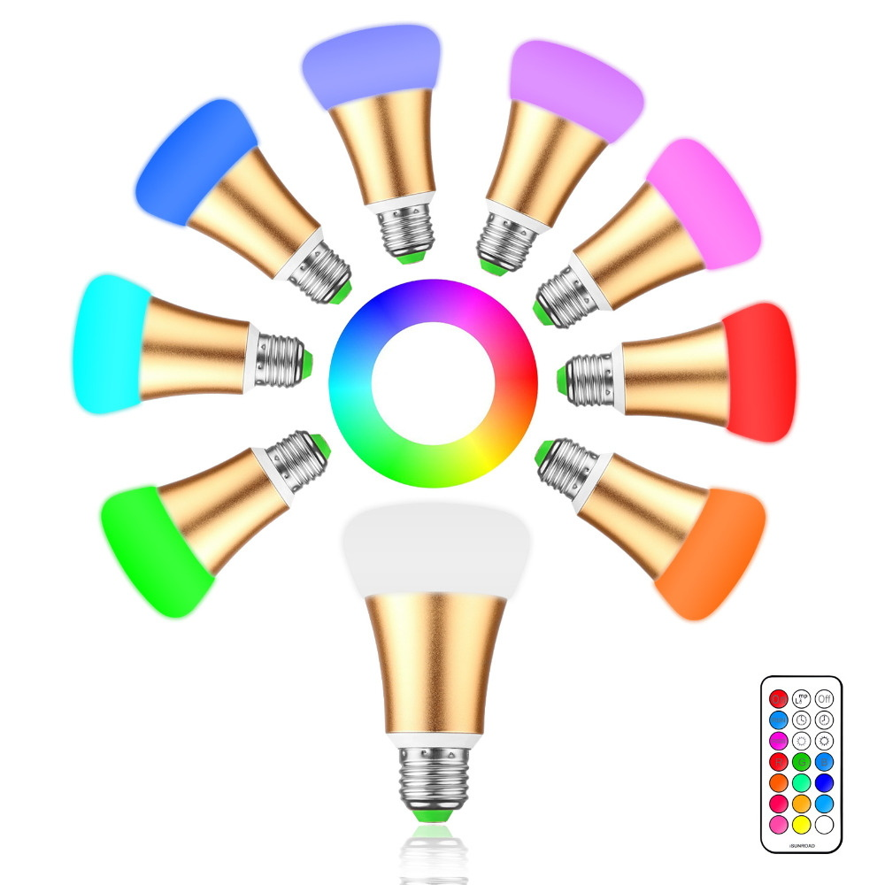 10W E27 LED Bulb 12 Colors for Home