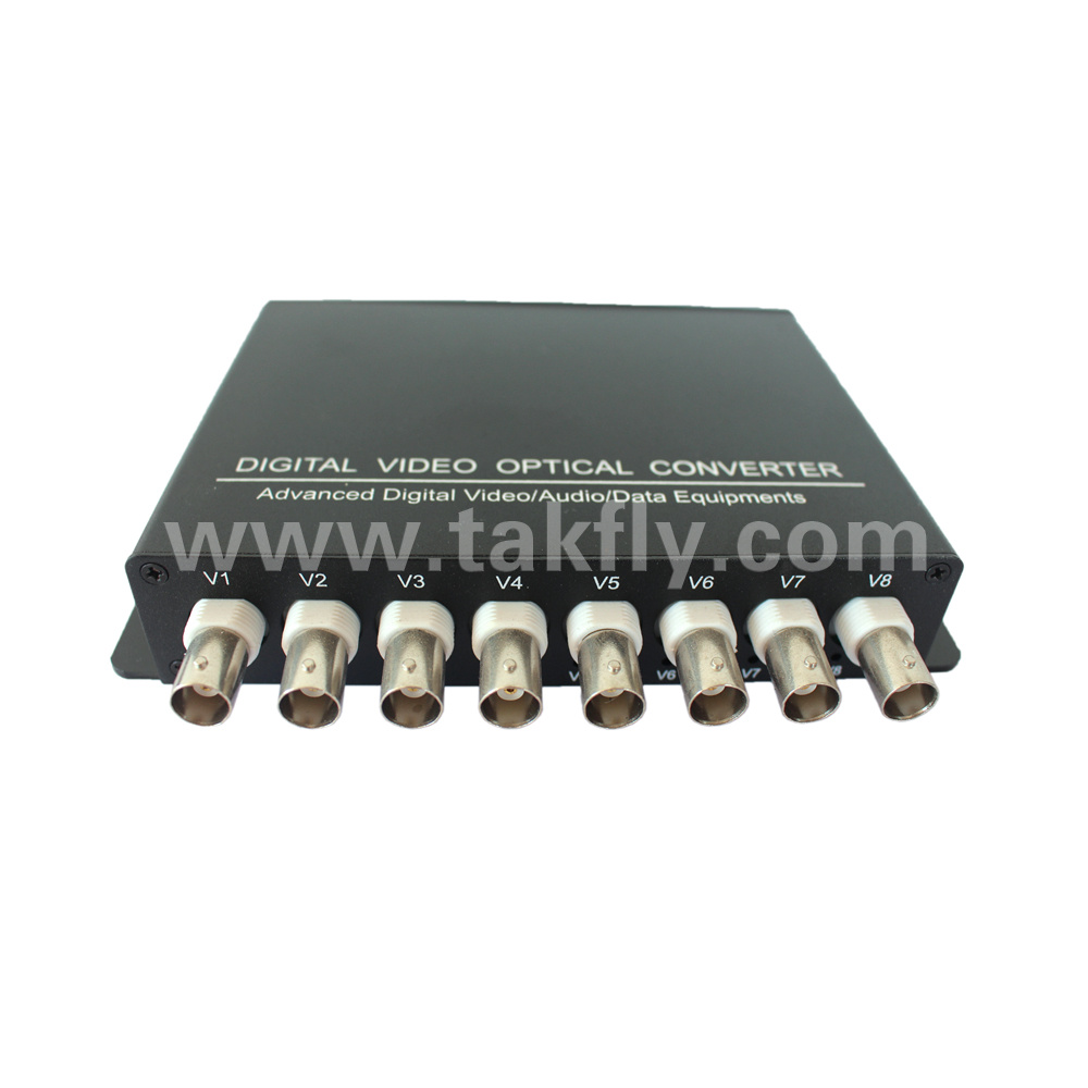 8 CH Fiber Optic Video Optical Transceiver