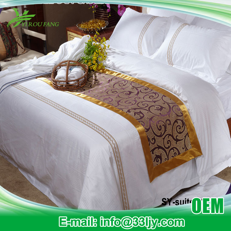 4 PCS Cheap 300 Thread Count Bedding Product for Hotel