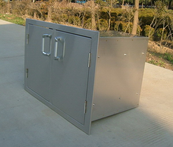 Stainless steel cabinet doors custom stainless steel for Custom stainless steel cabinet doors