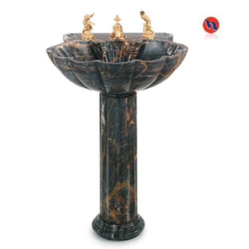 ... Black Portoro Pedestal Sink (HX-PS001) - China Wash Basin, Stone sink