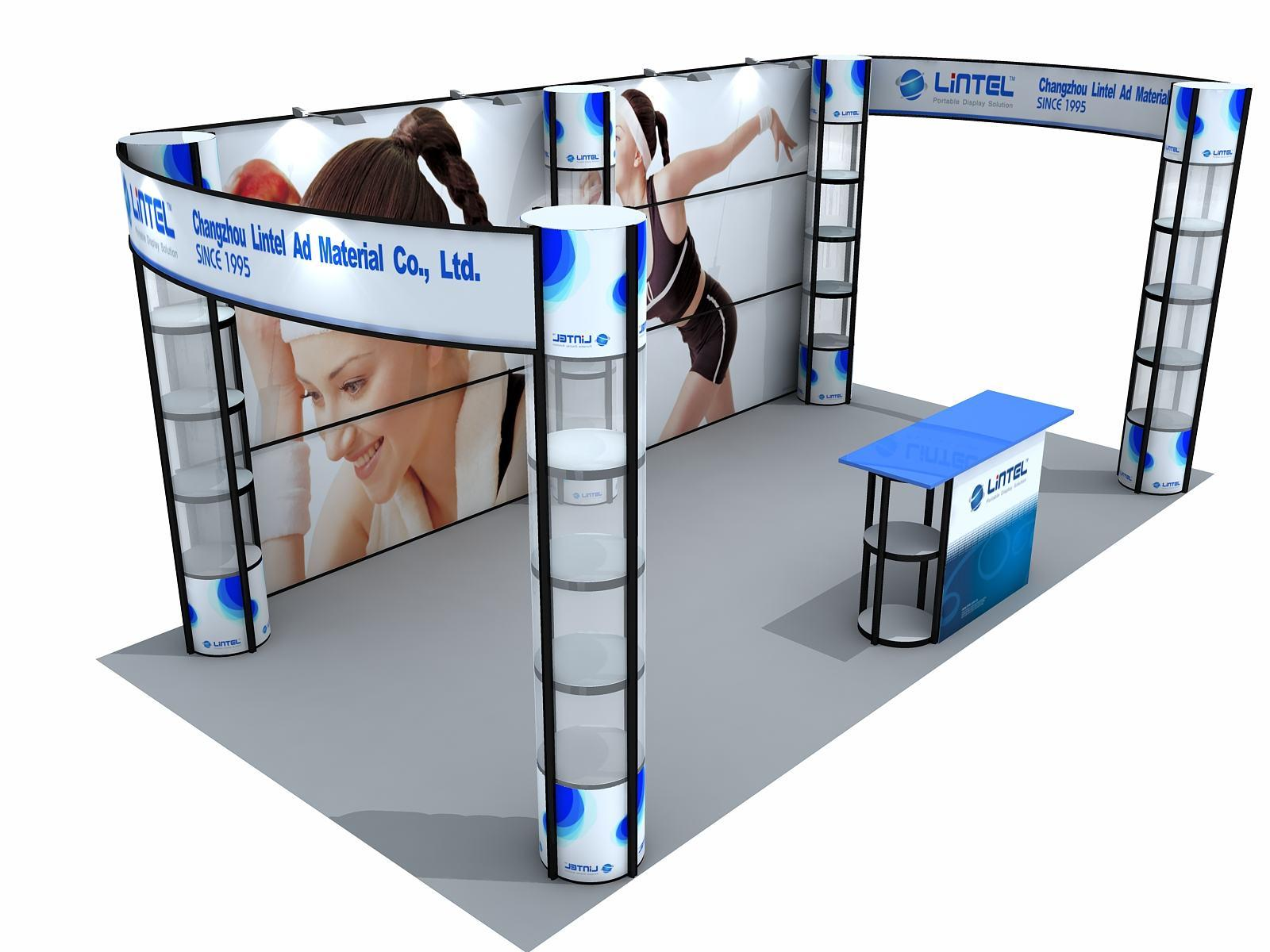 Portable Exhibition Booth Sia : China portable booth stands with twist tower and curved