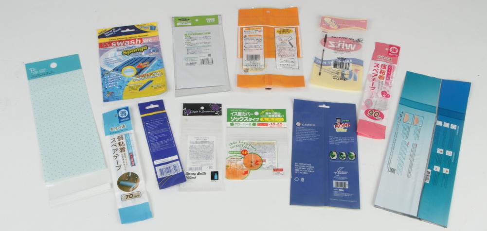 Colorful Print Clear Plastic Bag