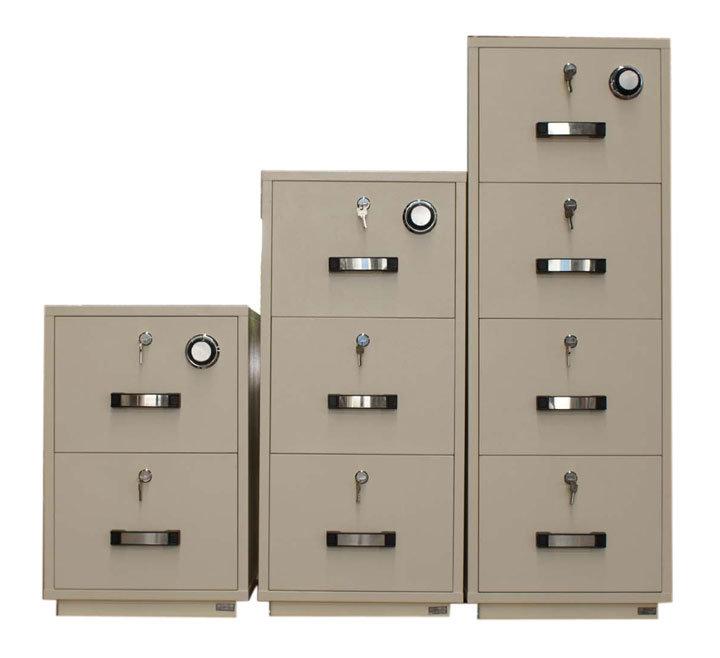 1 Hour Fireproof File Cabinet, Vertical Steel Cabinet (750FRD-4014)