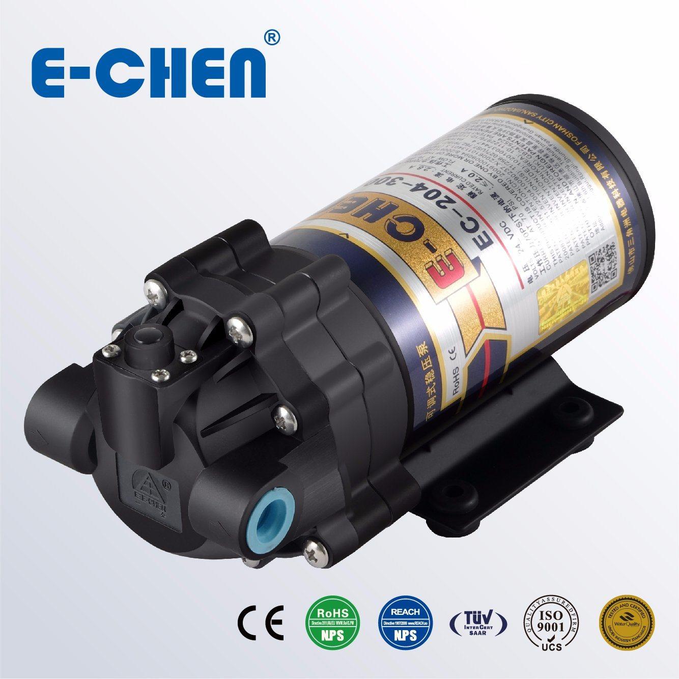 E-Chen 204 Series 400gpd Diaphragm RO Booster Pump - Self Priming Self Pressure Regulating Water Pump