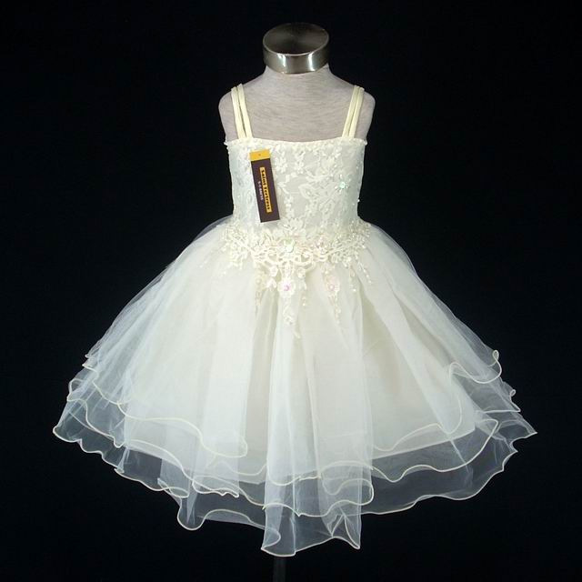 Light Yellow Wedding Flower Girl Dress