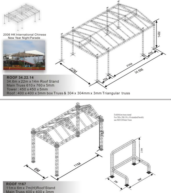 China truss system roof roof 1167 china for Truss roof system