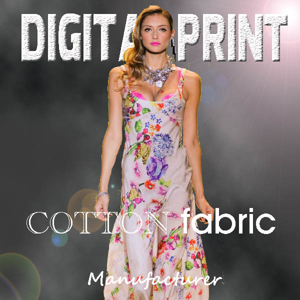 2017 New Style Digital Printed Cotton Fabric (X1005)