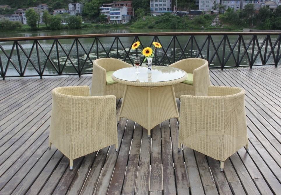 Rattan Table Chair, Garden Table Chair, Outdoor Table Chair, Dining Table Chair, Wicker Table (NC7019)