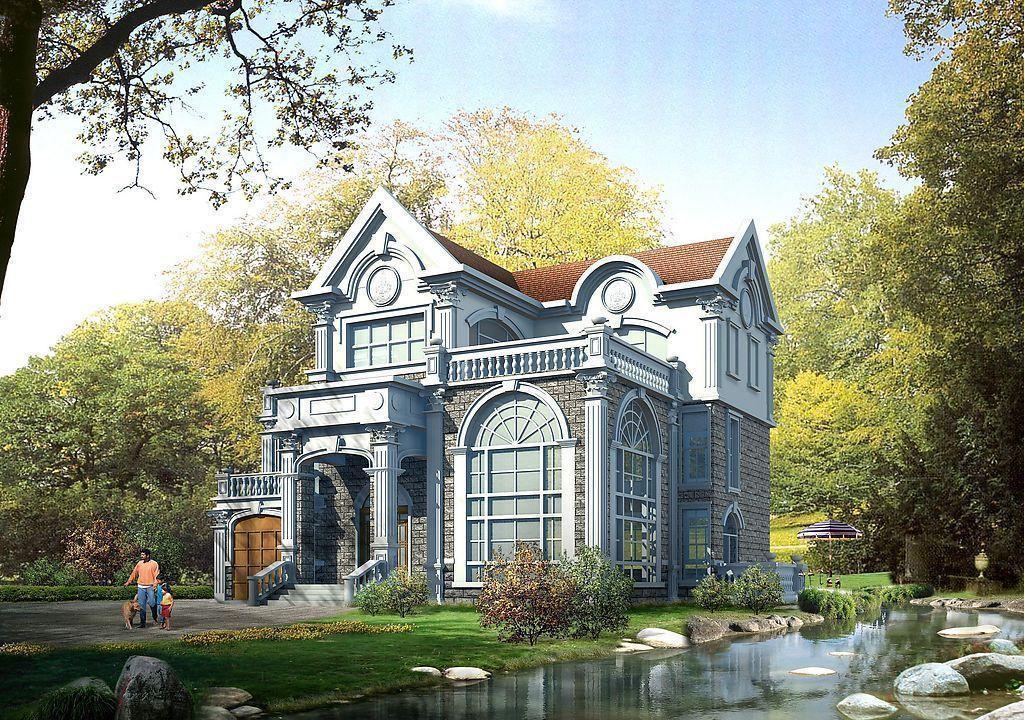 European Style Prefabricated Villa Design, Light Prefab Steel Villa, Prefab House