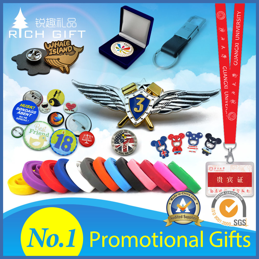 Custom Wholesale Fashion Business Promotion Novelties Christmas/Wedding/Birthday/PVC/Keychain/Plastic/Tourist/Metal Badge Souvenir Gift for Promotional Item Set