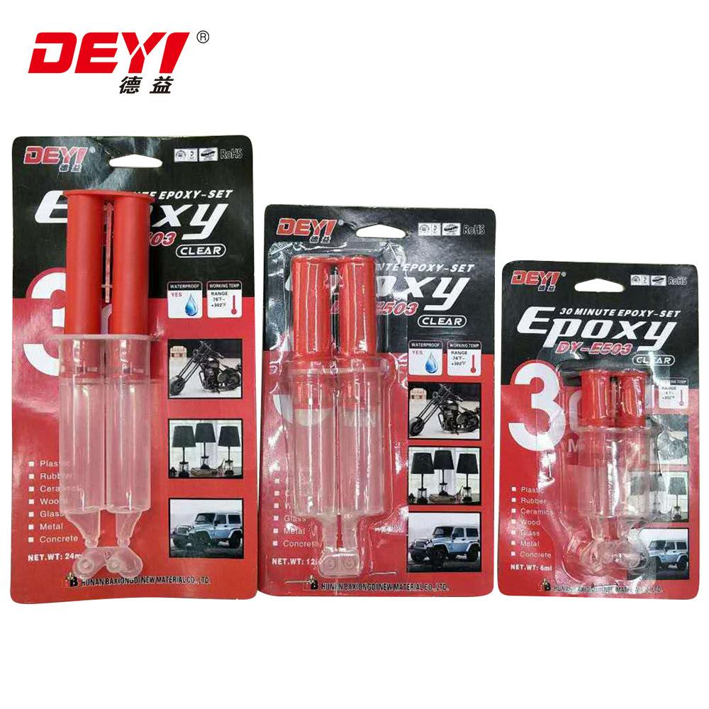 30 Minutes Clear Lateset Design Plastic Pipe Epoxy Resin Adhesive