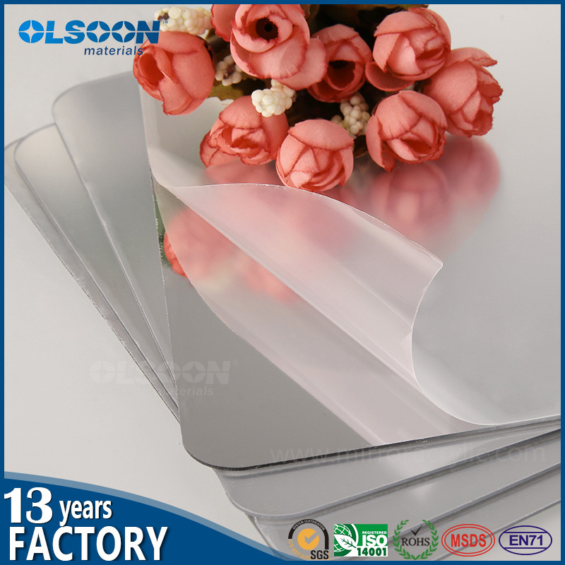 Olsoon 0.8-6mm Thickness Golden Acrylic Mirror Sheet Plastic PMMA Sheet