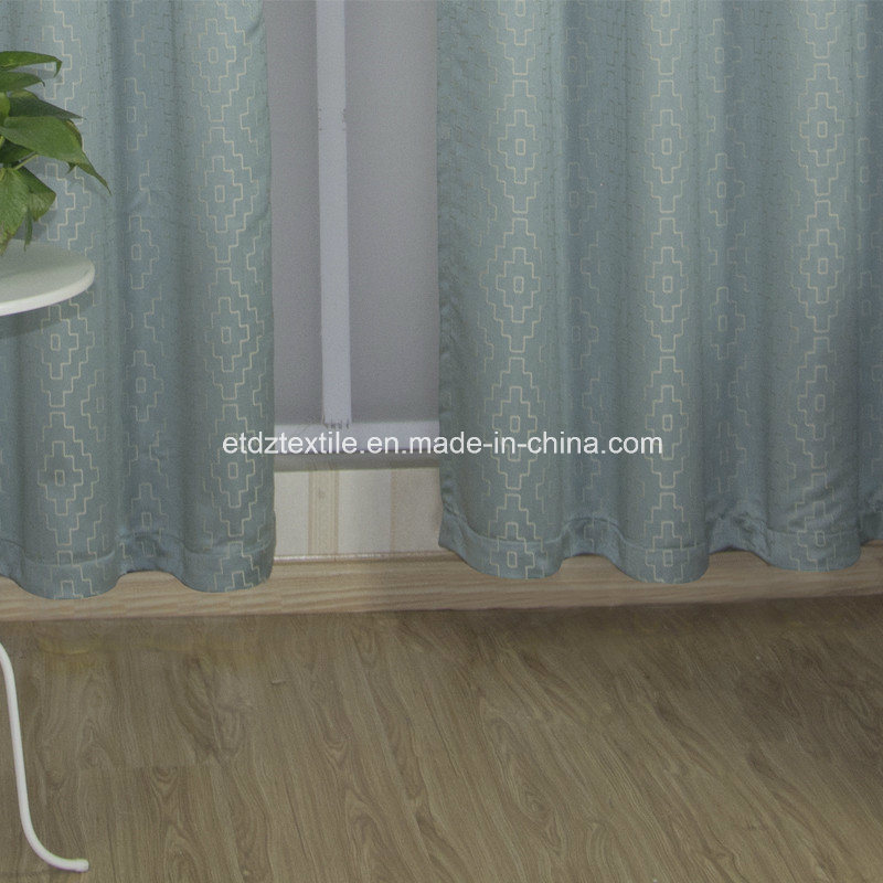 Polyester Embroidery Like Jacquard New Pattern Window Fabric Curtain