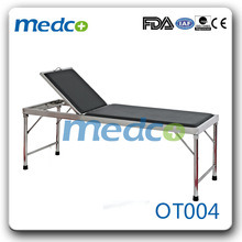 Stainless Steel Backrest Medical Examination Table