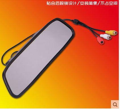 Digital LCD Display Video Reverse Monitor Car Rear View Mirror 4.3