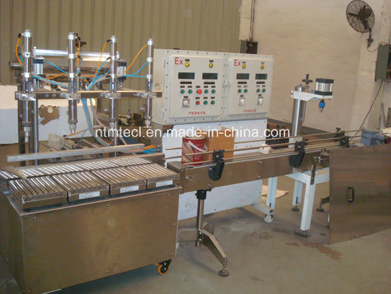 Automatic Weighing Type Liquid Filling and Capping Machine for Paint, Coating, Glue, Ink