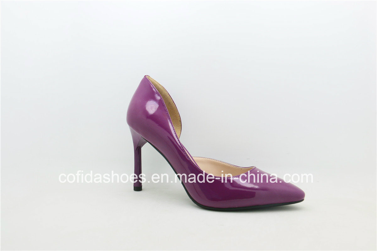 Updated Hand-Made Sexy Patent Leather Lady Shoe
