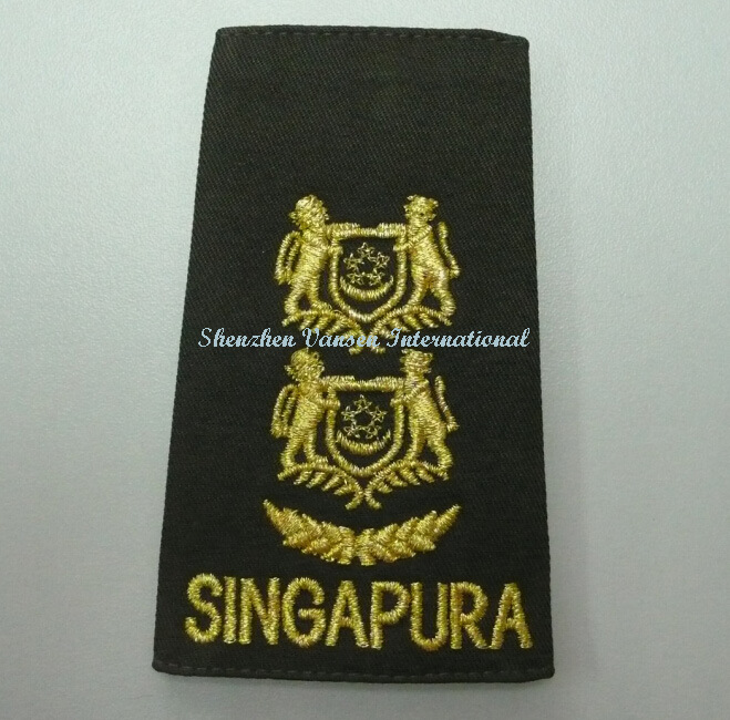 Army Badge with 3D Reflective Embroidery