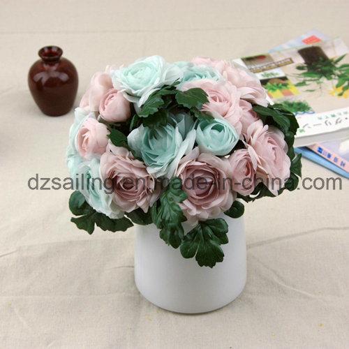 Elegant Ranunculus Bouquet Artificial Flower Used for Decoration (SF14666)