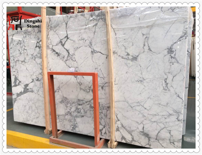Staturio White Marble Slab for Wall Tiles