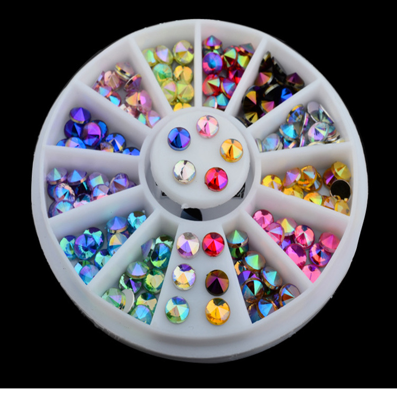 New Fashion 3D Crystal Rhinestones DIY Nail Art Tips Decoration Manicure