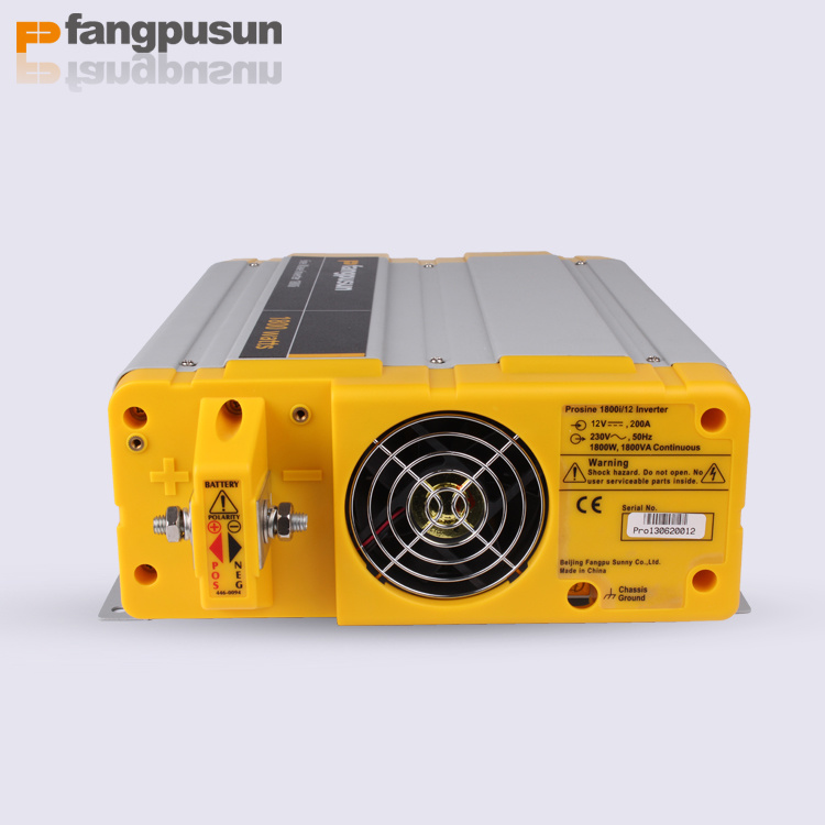 Prosine 1800 Fangpusun 12VDC to 110V/220VAC Signel Phase Pure Sine Wave Car Power Inverter 1800W