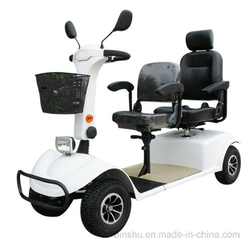 Four Wheel Electric Mobility Scooter with Double Seat