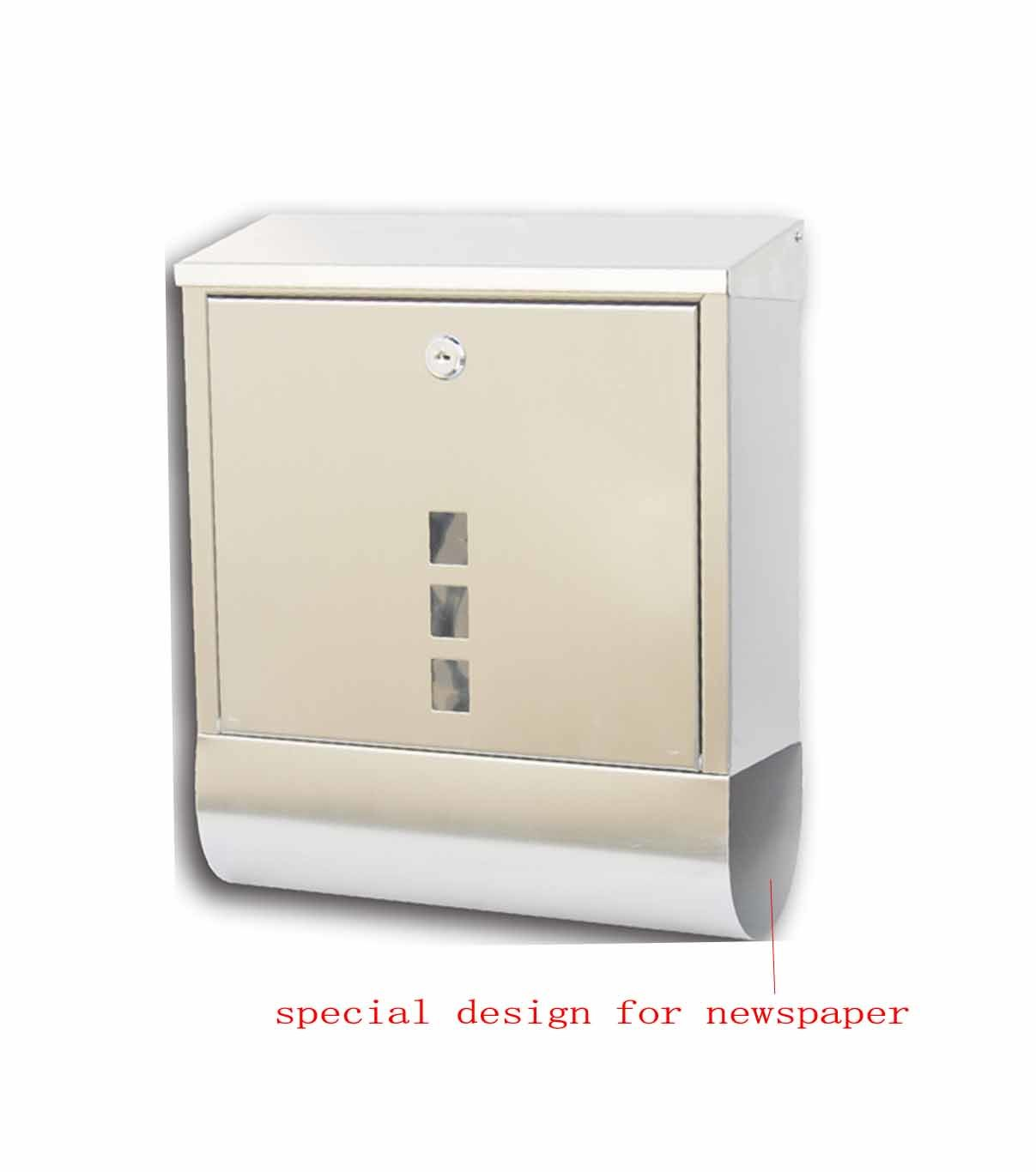 Special Design Stainless Steel Mailbox for Letters and Newspapers (KPW-624-SS)