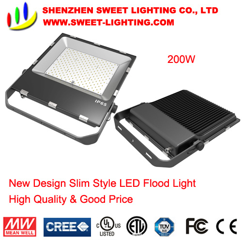 200W New Super Slim Top Quality LED Flood Light with 5 Years Warranty