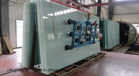 Decorative Colorful Laminated Glass with Printed Pattern or Color PVB Film or Color Tinted Glass