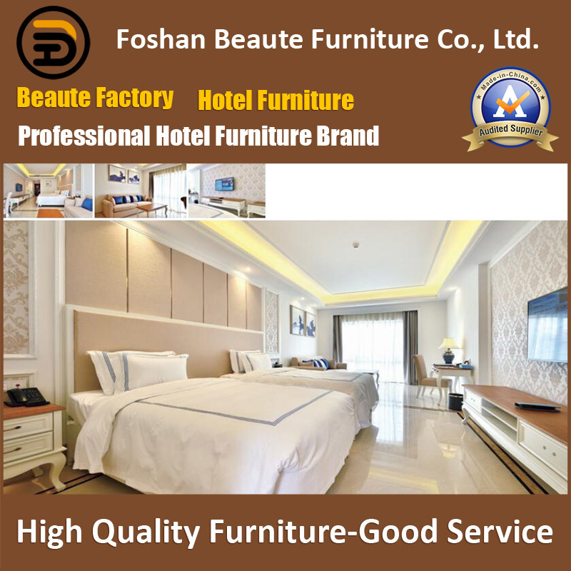 Hotel Furniture/Luxury Double Hotel Bedroom Furniture/Standard Hotel Double Bedroom Suite/Double Hospitality Guest Room Furniture (GLB-0109808)