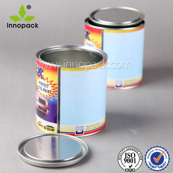 1 Liter Metal Tin Can for Aerosol with Lid and Plastic Handle
