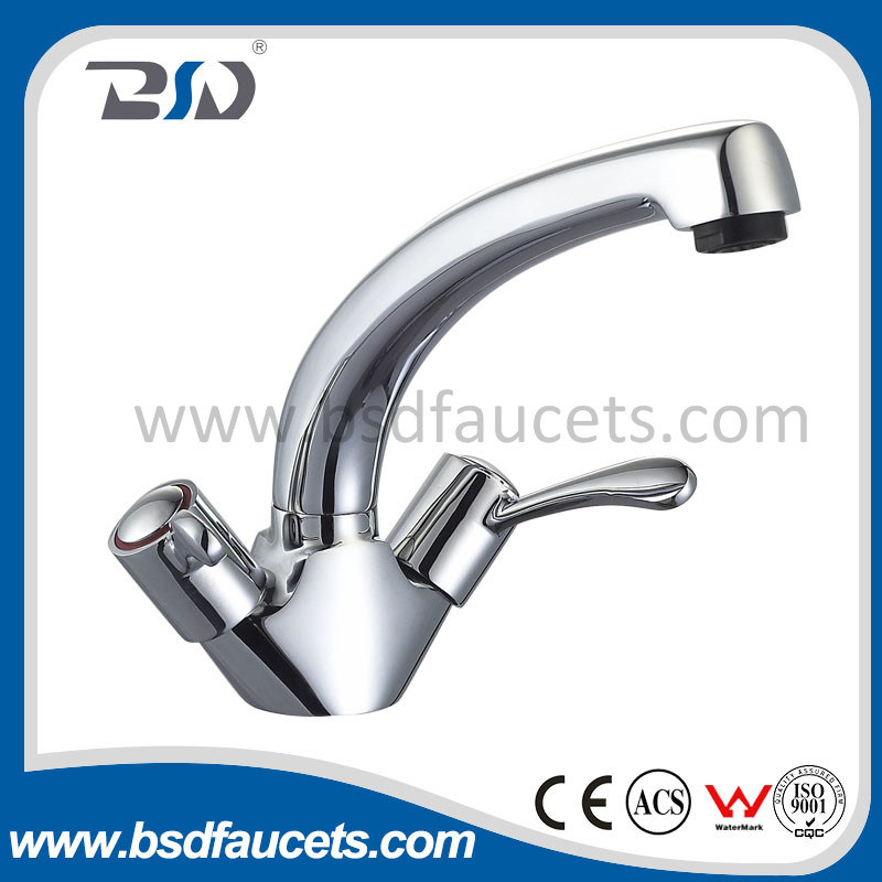 Hot & Cold Commercial Basin Sink Taps Pillar Lever Taps