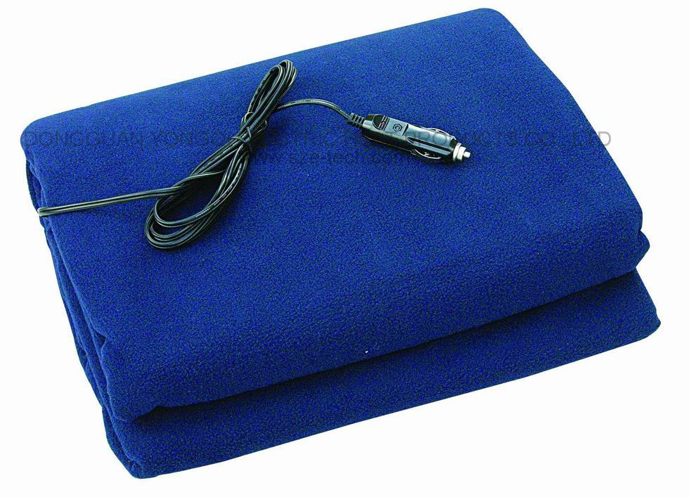Outdoor Used Polyester Fleece 12V Electric Auto Heating Blanket