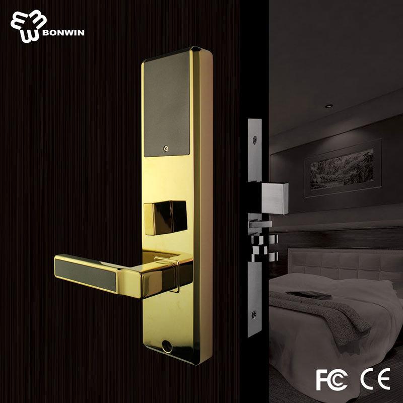 Wireless Electronic Keyless Mortise Door Handle Lock for Hotel