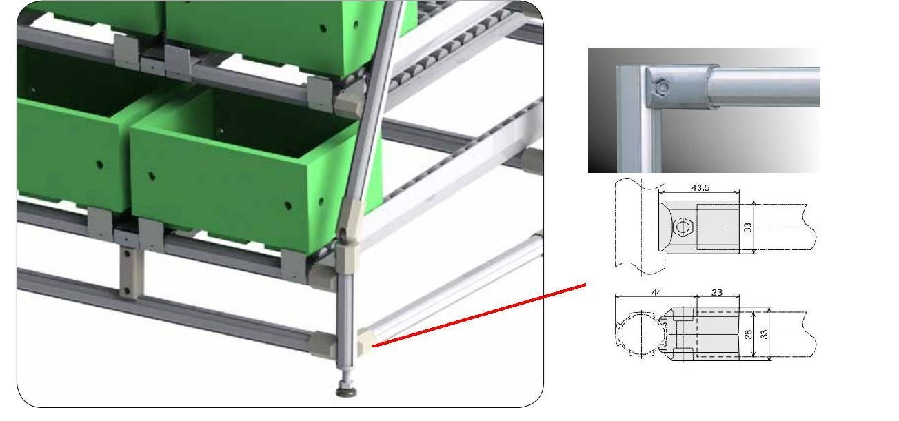 Aluminum Alloy Tube for Lean Rack