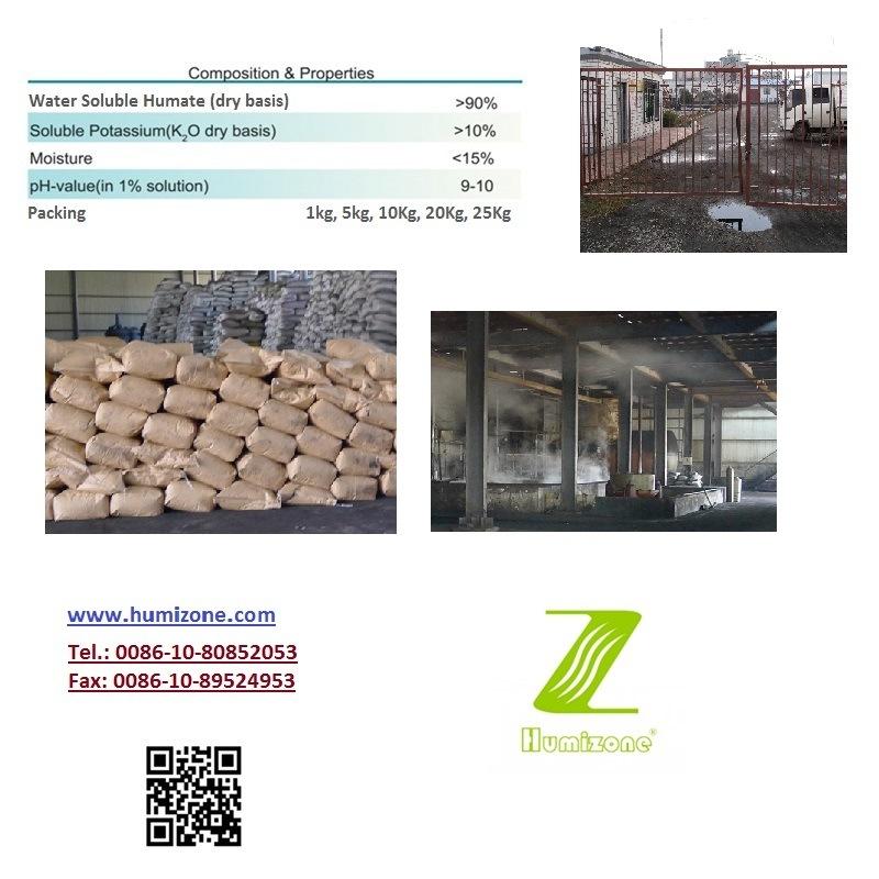 Humizone Potassium Humate 90% Granular Humic Acid From Leonardite