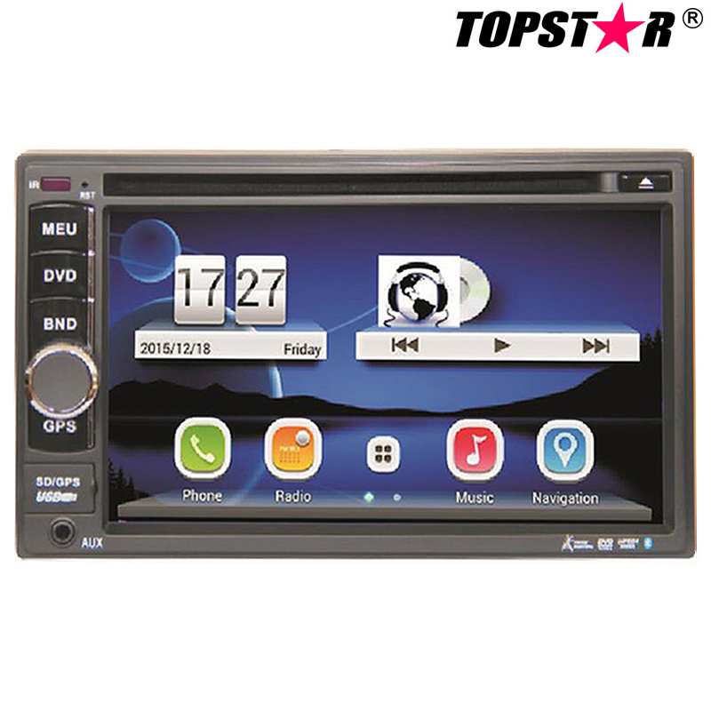 6.5inch Double DIN Car DVD Player with Wince System Ts-2501-2