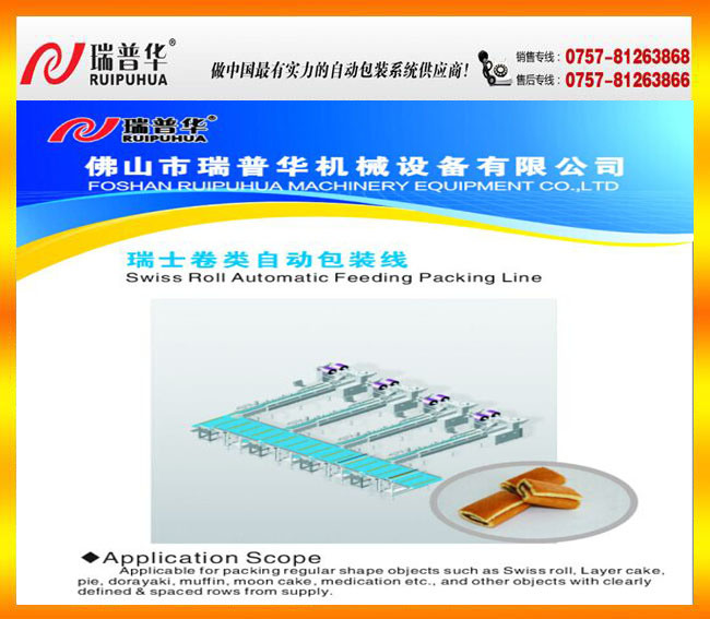 Swiss Roll Automatic Feeding Packaging Line